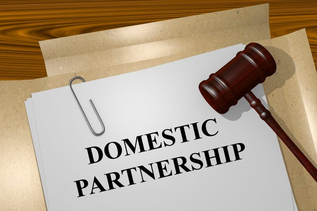 Don't confuse Common Law Marriage with a more formal Domestic Partnership.