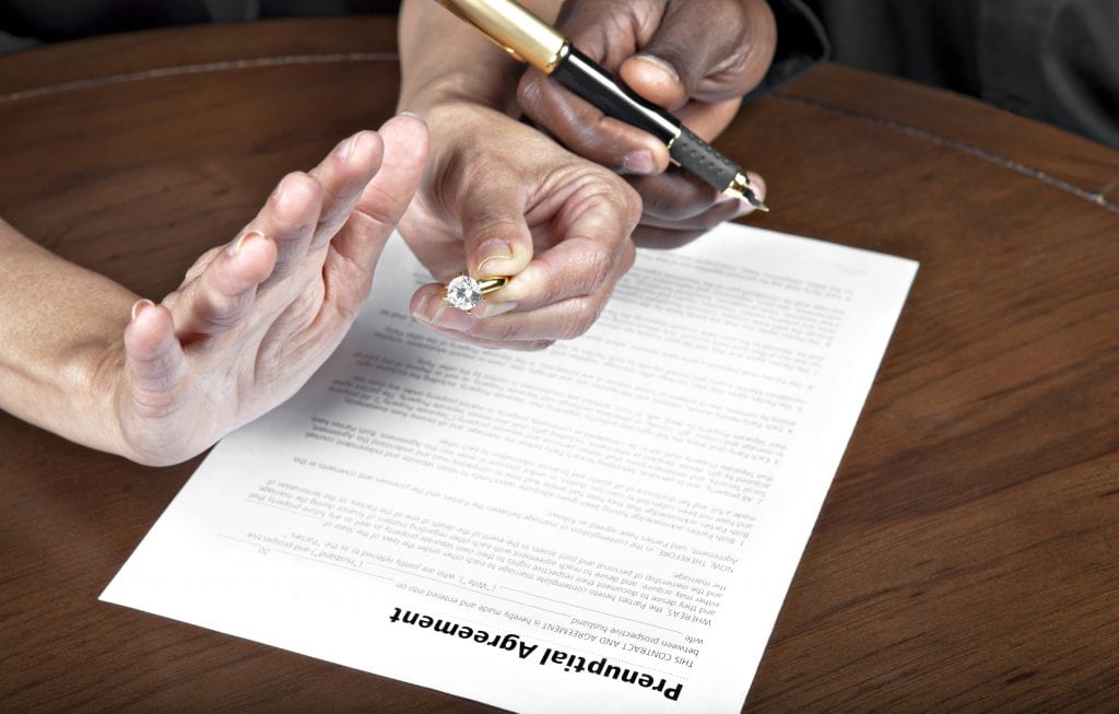 A prenuptial agreement can protect both parties in a marriage.